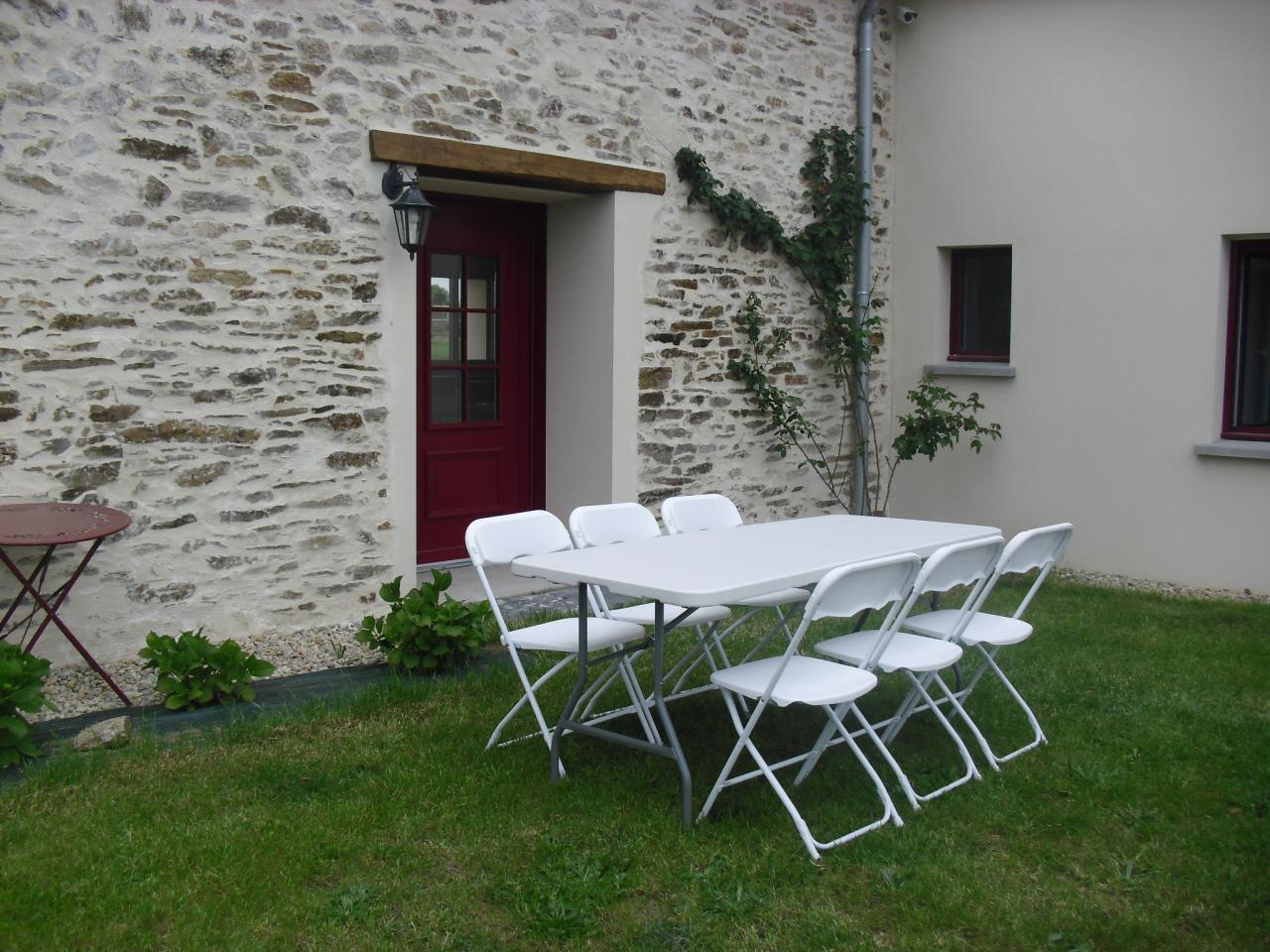 table et chaises de réception